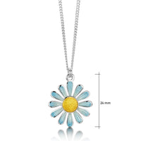 Coloured Daisies Small Pendant in Ice Enamel