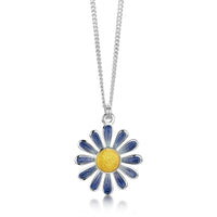 Coloured Daisies Small Pendant in Lilac Haze Enamel by Sheila Fleet Jewellery