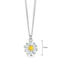 Daisies at Dawn Petite Enamel Pendant in Sterling Silver