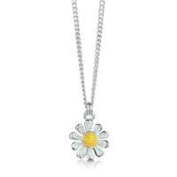 Daisies at Dawn Petite Enamel Pendant in Sterling Silver by Sheila Fleet Jewellery