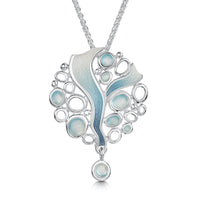 Arctic Stream Droplet Dress Pendant in Arctic Blue Enamel by Sheila Fleet Jewellery