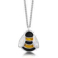 Bumblebee Enamel Dress Pendant in Sterling Silver by Sheila Fleet Jewellery.