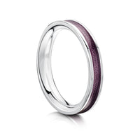 Halo Sterling Silver Ring in Pink Enamel by Sheila Fleet Jewellery