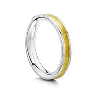 Halo Sterling Silver Ring in Yellow Enamel by Sheila Fleet Jewellery