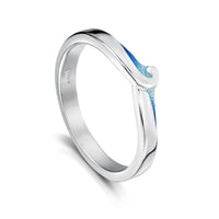 New Wave Ring in Light Ocean Enamel by Sheila Fleet Jewellery