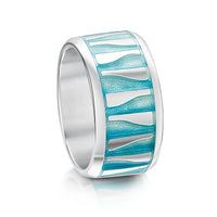 Hoxa Reflections Enamelled Ring in Sterling Silver by Sheila Fleet Jewellery