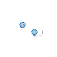 Primula Scotica Petite CZ Stud Earrings in Forget-Me-Not Blue