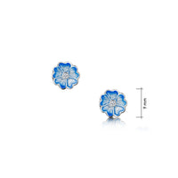 Primula Scotica Cubic Zirconia Stud Earrings in Forget-Me-Not Blue