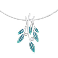 Rowan Dress Necklace in Sage Enamel with Moonstone, Pearl & CZ