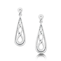 Celtic Teardrop Earrings in Sterling Silver by Sheila Fleet Jewellery