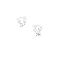 Thistle Stud Earrings in Sterling Silver by Sheila Fleet Jewellery