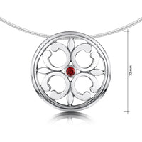 Garnet Cathedral Necklace in Sterling Silver by Sheila Fleet Jewellery