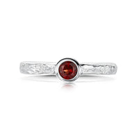 Matrix Garnet Ring in Sterling Silver by Sheila Fleet Jewellery