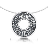 Runic Necklace in Sterling Silver