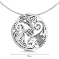 Birsay Disc Dress Necklace in Sterling Silver
