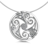 Birsay Disc Dress Necklace in Sterling Silver by Sheila Fleet Jewellery
