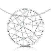 Creel Single-Sided Dress Necklace in Sterling Silver