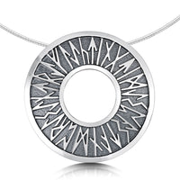 Runic Dress Necklace in Sterling Silver