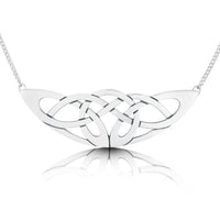 The Lover's Knot Sterling Silver Occasion Necklace by Sheila Fleet Jewellery