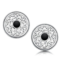 Celtic Stud Earrings in Sterling Silver by Sheila Fleet Jewellery