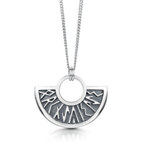 Runic Pendant Necklace in Sterling Silver