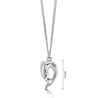 Dolphin Curve Small Pendant Necklace in Sterling Silver