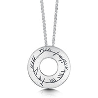 Ogham Pendant Necklace in Sterling Silver by Sheila Fleet Jewellery