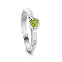 Matrix Peridot Ring in Sterling Silver by Sheila Fleet Jewellery