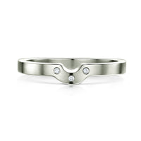 Diamond Arch Wedding Band in Platinum (to match DR179) by Sheila Fleet Jewellery