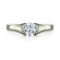 Venus 0.5ct Solitaire Diamond Ring in Platinum by Sheila Fleet Jewellery