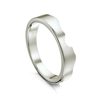 River Ripples Wedding Band in Platinum by Sheila Fleet Jewellery