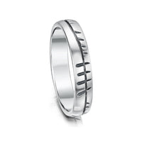 Ogham Small Ring in Sterling Silver by Sheila Fleet Jewellery