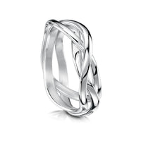 Tidal Ring in Sterling Silver by Sheila Fleet Jewellery