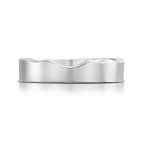 River Ripples Wedding Ring in Sterling Silver by Sheila Fleet Jewellery