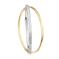 Matrix Embrace Bangle in Silver & 9ct Yellow Gold