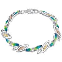 Seasons Gold Leaves Bracelet in Spring Enamel by Sheila Fleet Jewellery