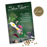 Free wildflower seed mix with every purchase from the Sheila Fleet Bumblebee collection (UK only).