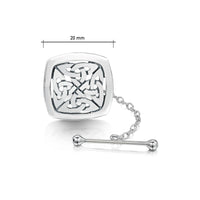 The Lover's Knot Sterling Silver Tie Tack by Sheila Fleet Jewellery