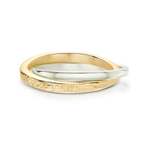 Matrix Embrace Ring in 9ct Yellow & White Gold by Sheila Fleet Jewellery