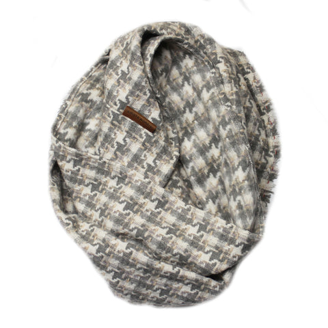 Limited Edition - Grey and Cream Houndstooth Wingtip