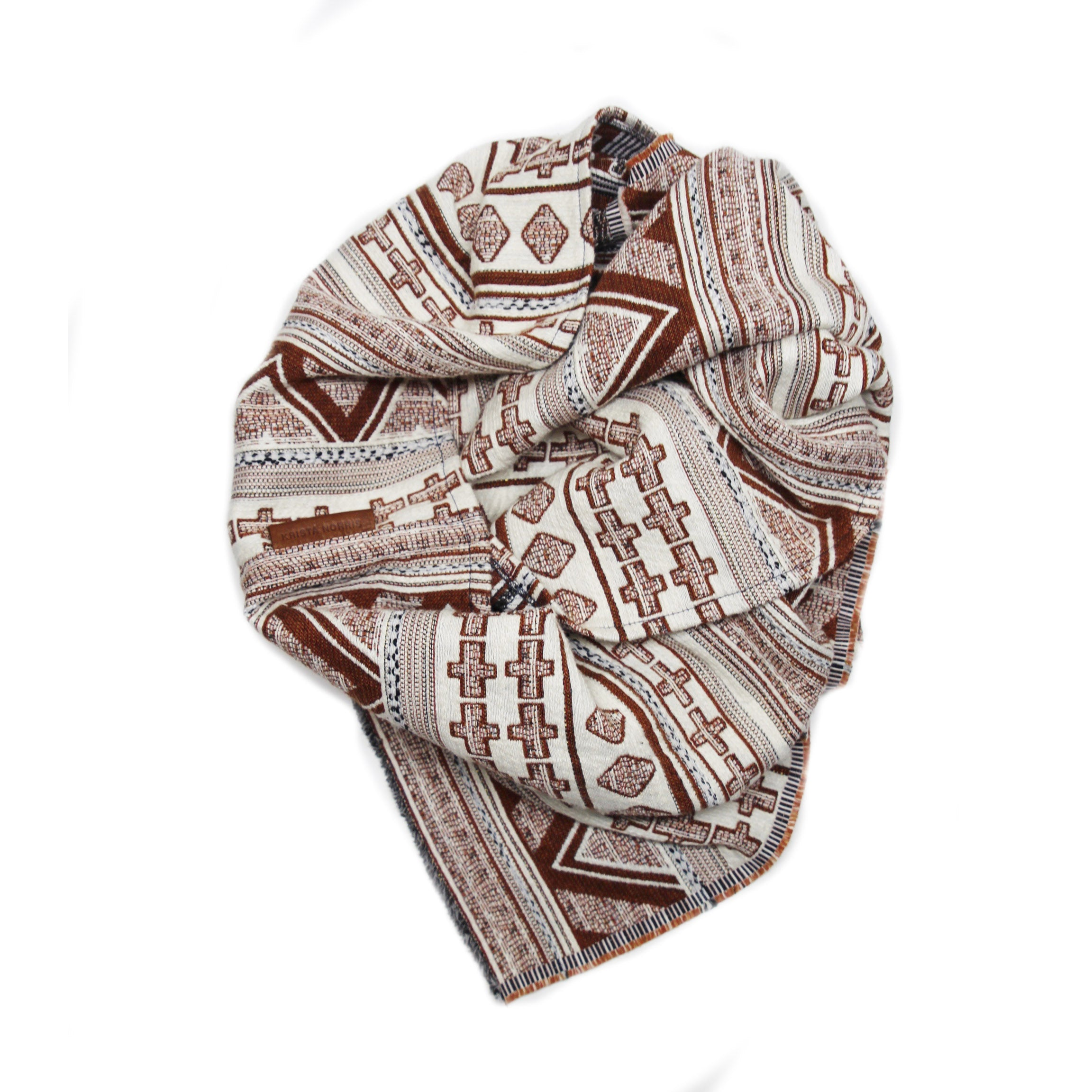 Rebel Wingtip Scarf - Burnt Orange