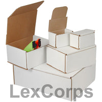 6-3/16x5-3/8x2-1/2 White Corrugated Mailers