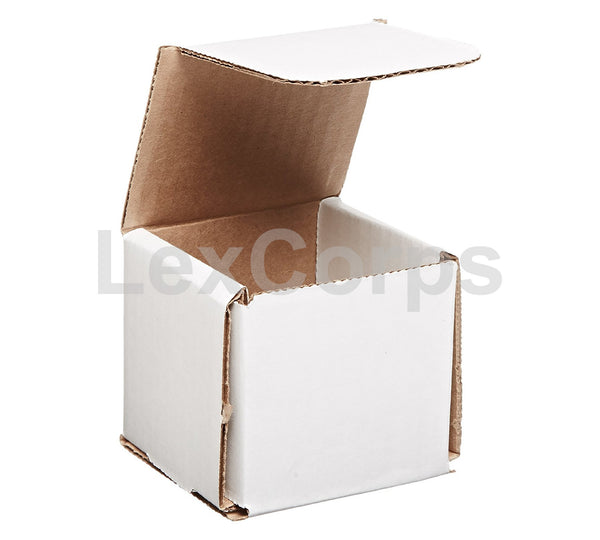 3x3x3 White Corrugated Mailers