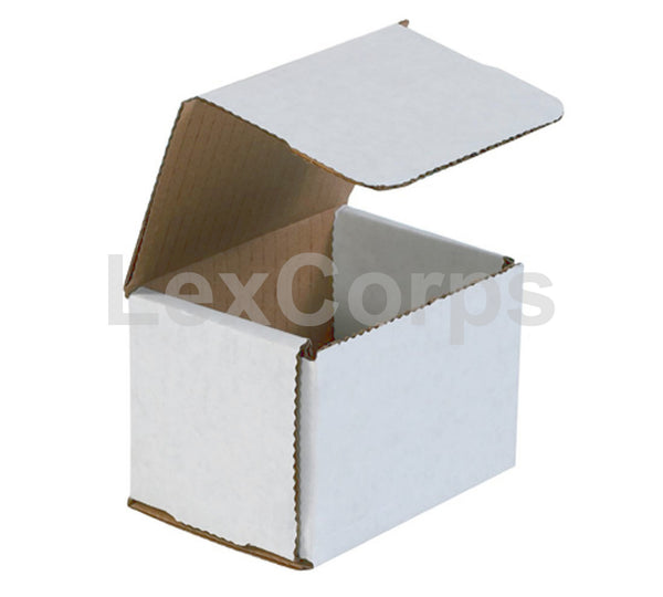 4x3x3 White Corrugated Mailers