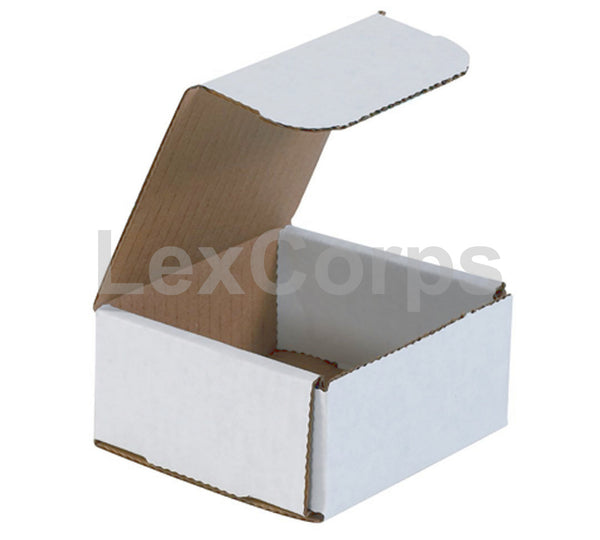 4x4x2 White Corrugated Mailers