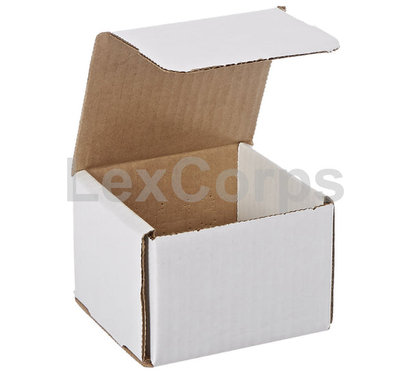 4x4x3 White Corrugated Mailers