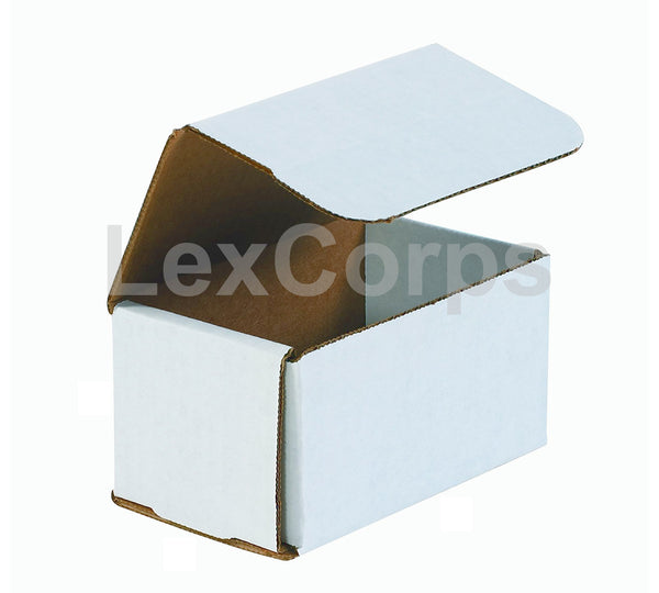 5x3x3 White Corrugated Mailers