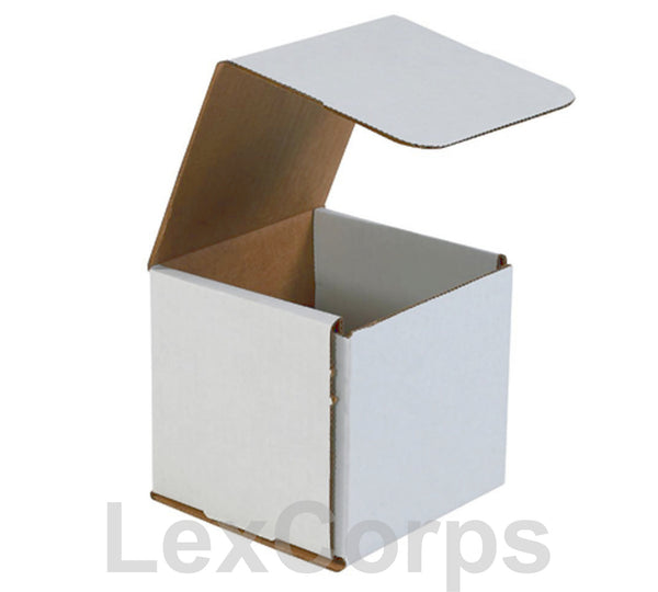 5x5x5 White Corrugated Mailers