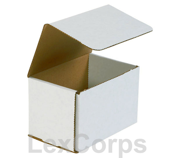 6x4x4 White Corrugated Mailers