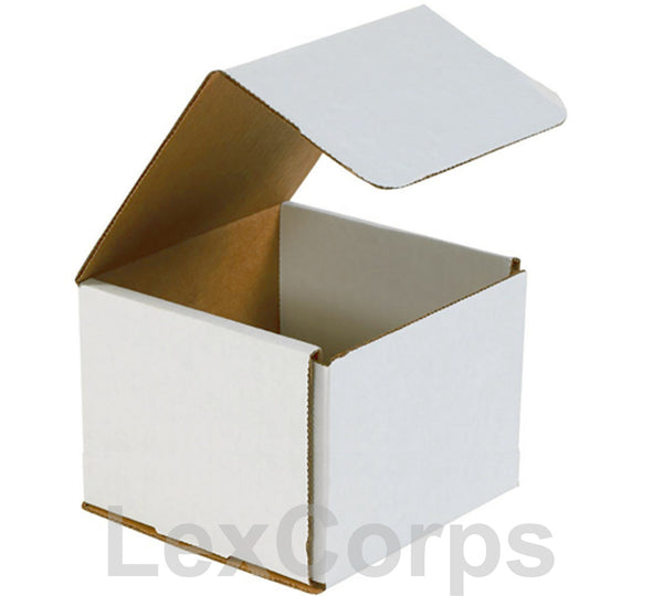 6x6x6 White Corrugated Mailers